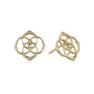 Kendra Scott • Dira Logo Earrings • Gold